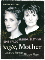 an analysis of night mother a play by marsha norman Used this monologue from the play 'night mother' by marsha norman to get one of 162 spots in the country at the nhsi 'cherubs' program in 2005.